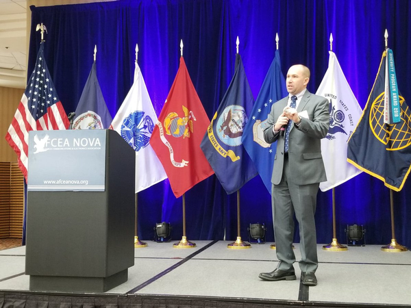 Stephen Wallace, systems innovation scientist for the Emerging Technologies (EM) Directorate at DISA, was the keynote speaker for the January event.