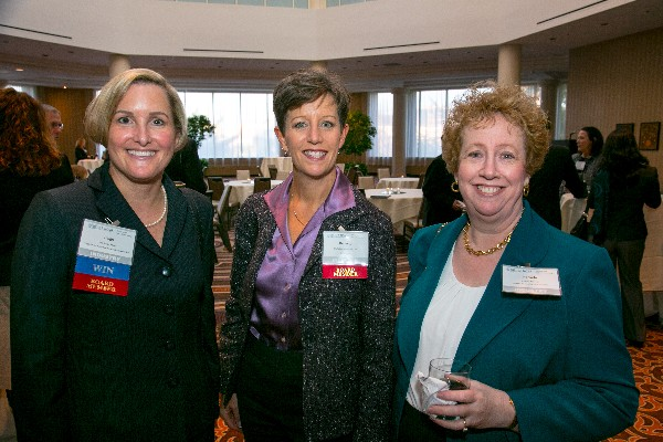 Attendees network during the October networking social from Women in NOVA.