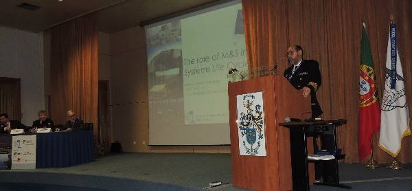 Capt. Mario Simoes Marques, PRT NA, delivers the keynote speech at the February seminar,