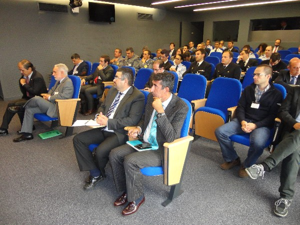 The seminar audience tunes in to developments about the Galileo system at the chapter's October seminar.