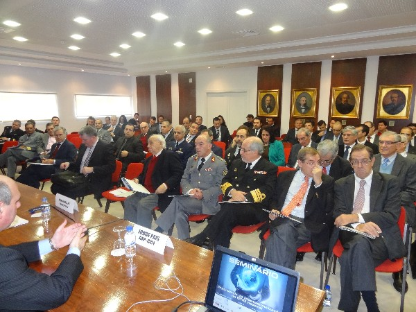 "Attendees gather at the chapter's January seminar on the ""Internationalization of the National Defense Technological and Industrial Base"" held at the Portuguese Industrial Association in Lisbon."