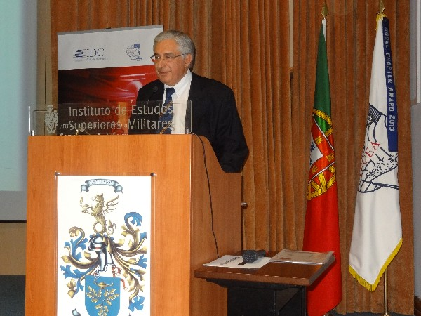 Jose Torres Sobral, National Security Authority, discusses the status of the development of the newly created National Cyber Security Center in Portugal during the chapter's conference on information security and risk management in May.