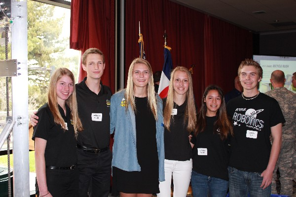 Team 662 officers at the chapter's April luncheon are (l-r) Natalie Kalin, Jackson Kulik, CEO Kika Macfarlane, Jessica Mills, Alyssa Ware and Caden Blue.