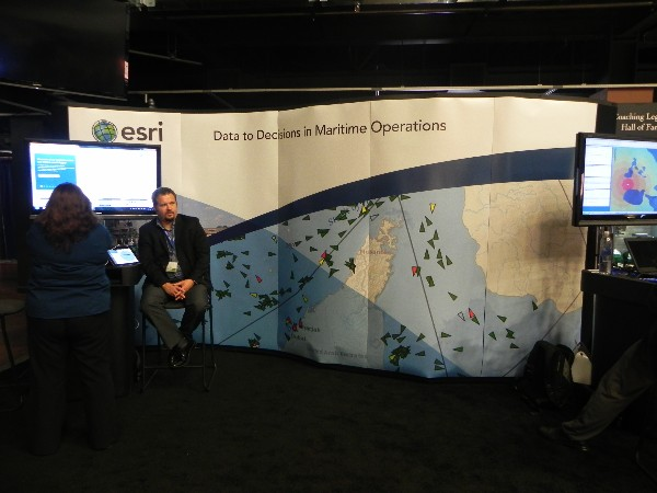 In April, ESRI representatives man the company booth at the C4ISR Symposium.