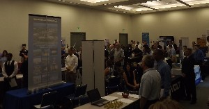 Attendees pack into the chapter's first ever Veterans Career and Resource Fair in August.