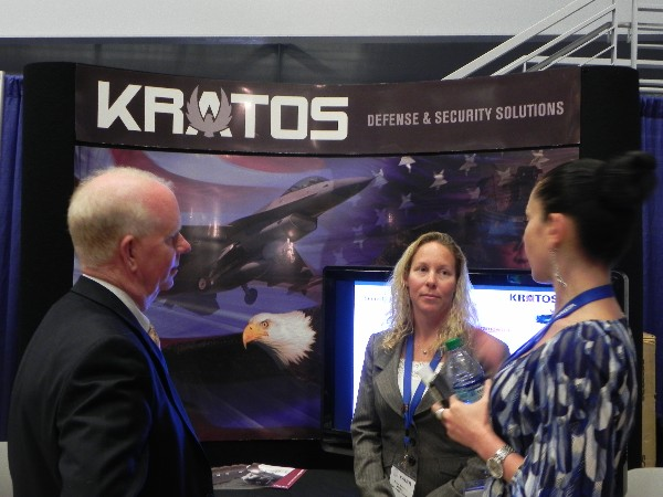 Attendees network with industry at the April C4ISR Symposium.
