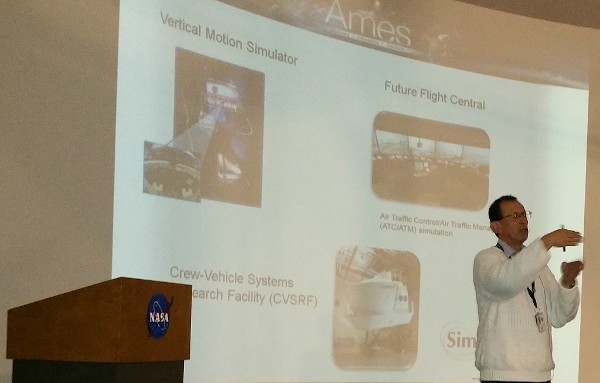 At the chapter meeting in February, Dr. Horacio Chavez, a NASA Ames project manager at Moffett Field, talks about some of the innovation NASA Ames has had a part in developing.