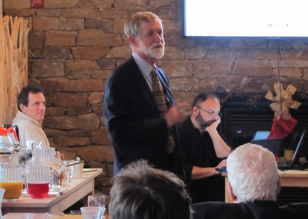 Dr. Tom Gannon from Worcester Polytechnic Institute presents a tutorial to chapter members in December.