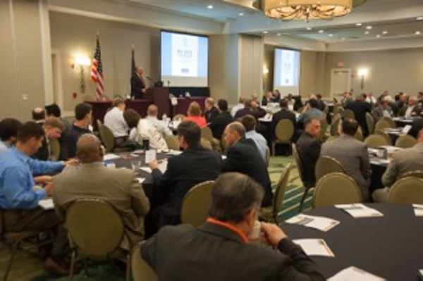 In October, approximately 200 attendees listen to a host of speakers and panelists throughout the day at the Big Data in the Maritime Battlespace Symposium.