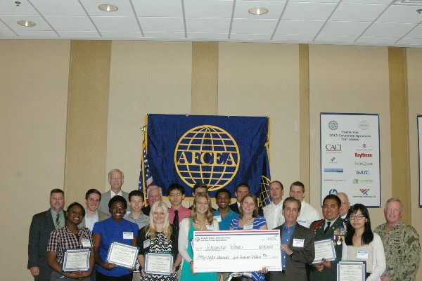 In April, the chapter recognizes recipients of its STEM Scholarship. This year, 12 scholarships totaling $48,500 were given to promising students in the science, technology, engineering and mathematics (STEM) fields.
