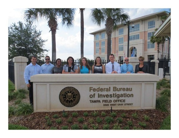 In April, members of the chapter's Young AFCEAN program are granted access to tour the FBI's local Tampa Field Office.