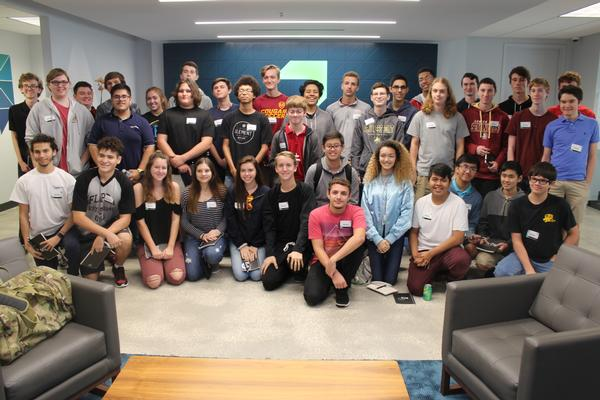 In December, 37 students attended the field trip to the ReliaQuest Security Operations Center in Tampa as part of the chapter's first event for the High School Cyber Security Outreach Program.