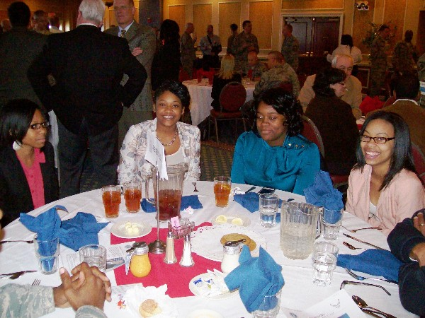At the November luncheon, the chapter hosts several students and chaperones from the Achievable Dream Academy. An Achievable Dream is a unique partnership between Newport News Public Schools, the city of Newport News and the local business community to give students who are at risk of failure in school due to socioeconomic factors a chance to succeed.