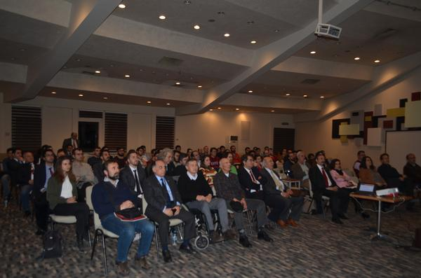 At March's meeting, the audience listens to a presentation on the future of aviation software and hardware trends.