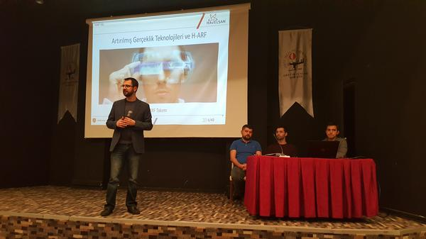 Cem Murat Turgut presents the augmented reality topics at the December event.