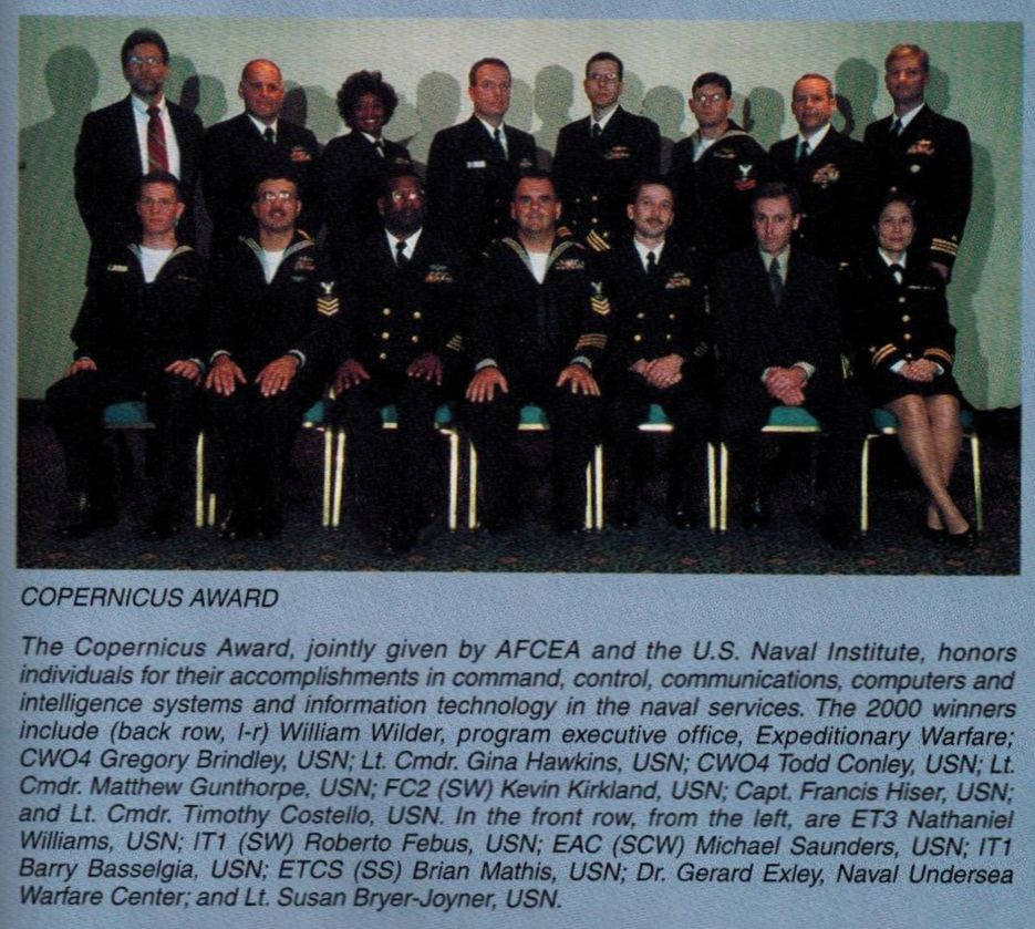 Photo of 2001 Copernicus Award Winners who attended WEST 01